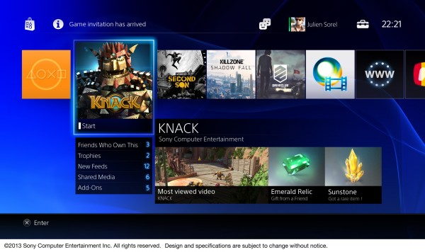 Sony demonstreert user interface van de Playstation 4 [video]
