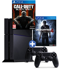 PS4-bundel Uncharted 4: A Thief's End + Call of Duty: Black Ops 3 + 2 controllers