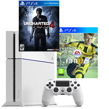 PS4-bundel FIFA 17 + Uncharted 4: A Thief's End Wit