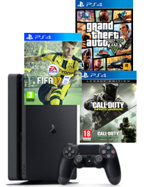 PS4-bundel (Slim) Call of Duty: Infinite Warfare + Modern Warfare Remastered + FIFA 17 + GTA 5