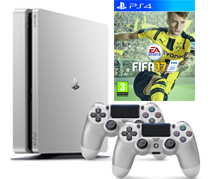 PlayStation 4 Slim Silver + FIFA 17